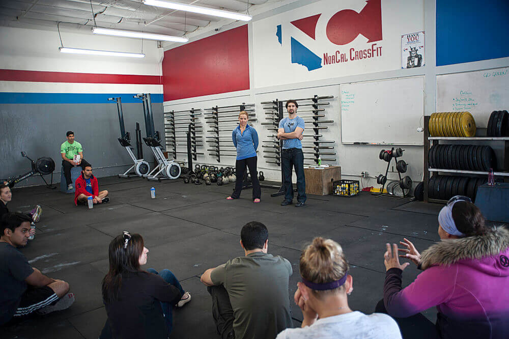 Fuel Challenge Wrap Up at Crossfit Dr. karo giving lecture