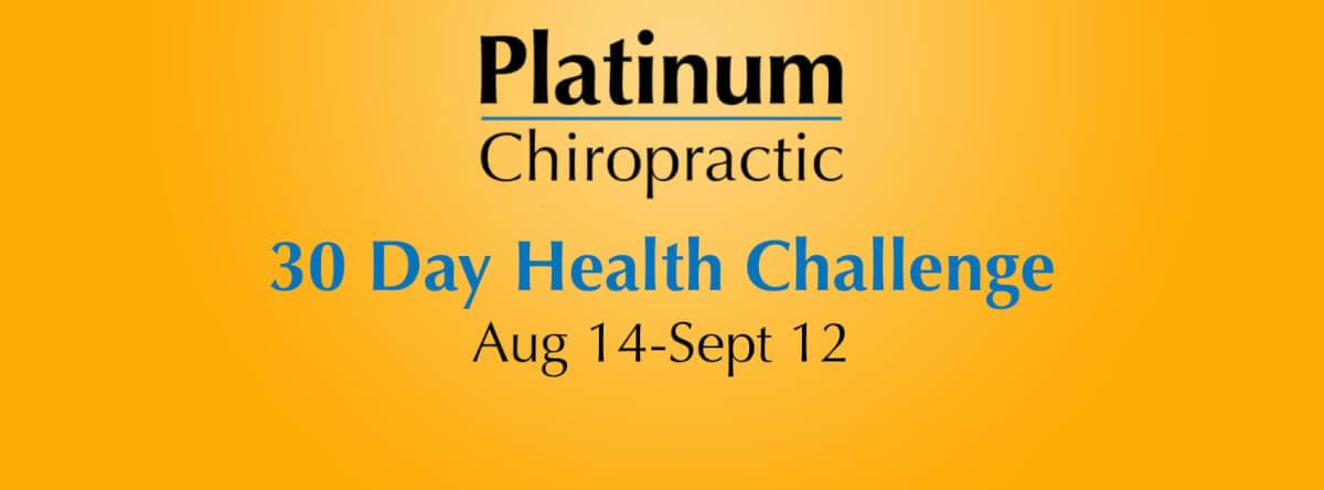 30 Day Health Challenge: Aug 14 – Sept 12 banner