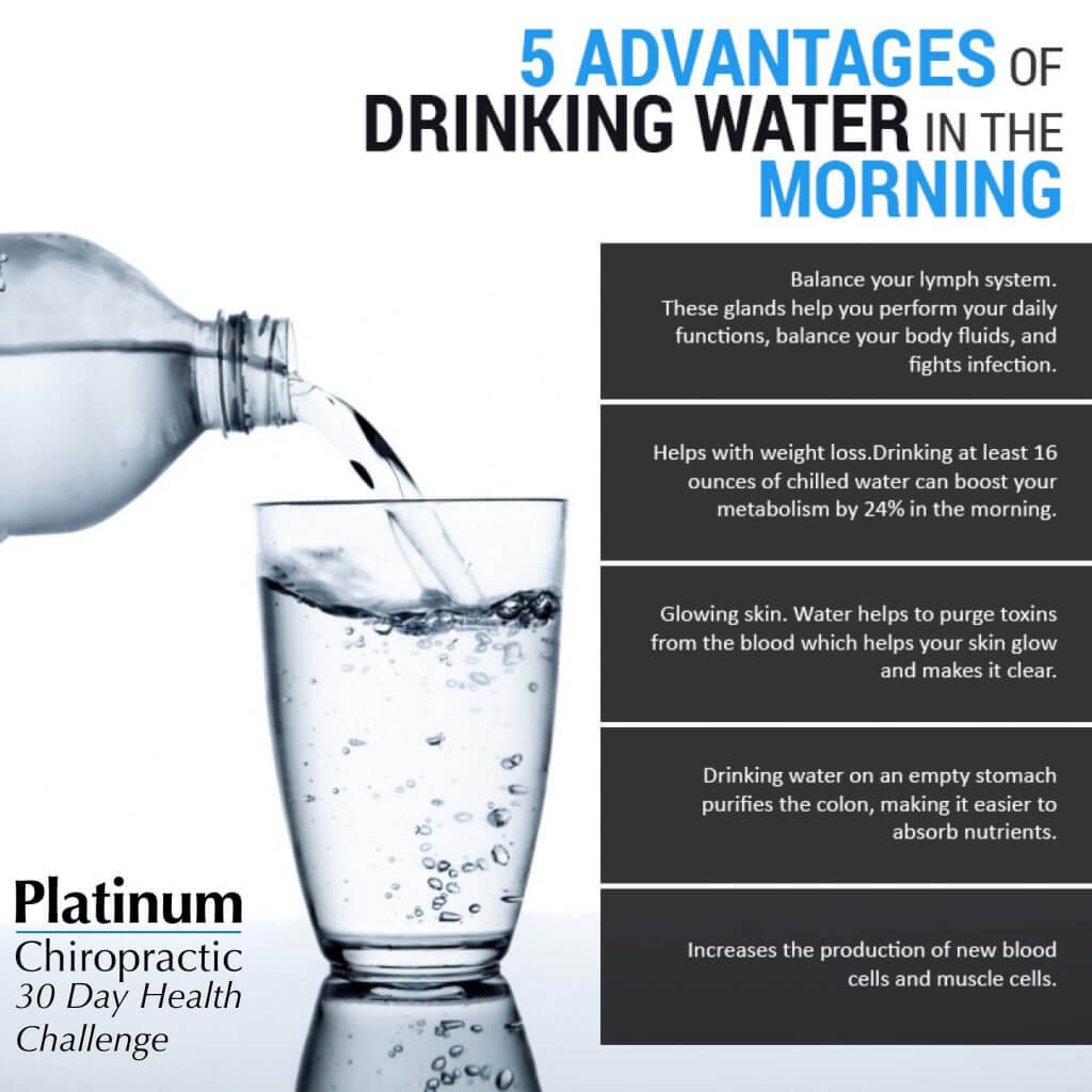 5 advantages of drinking water