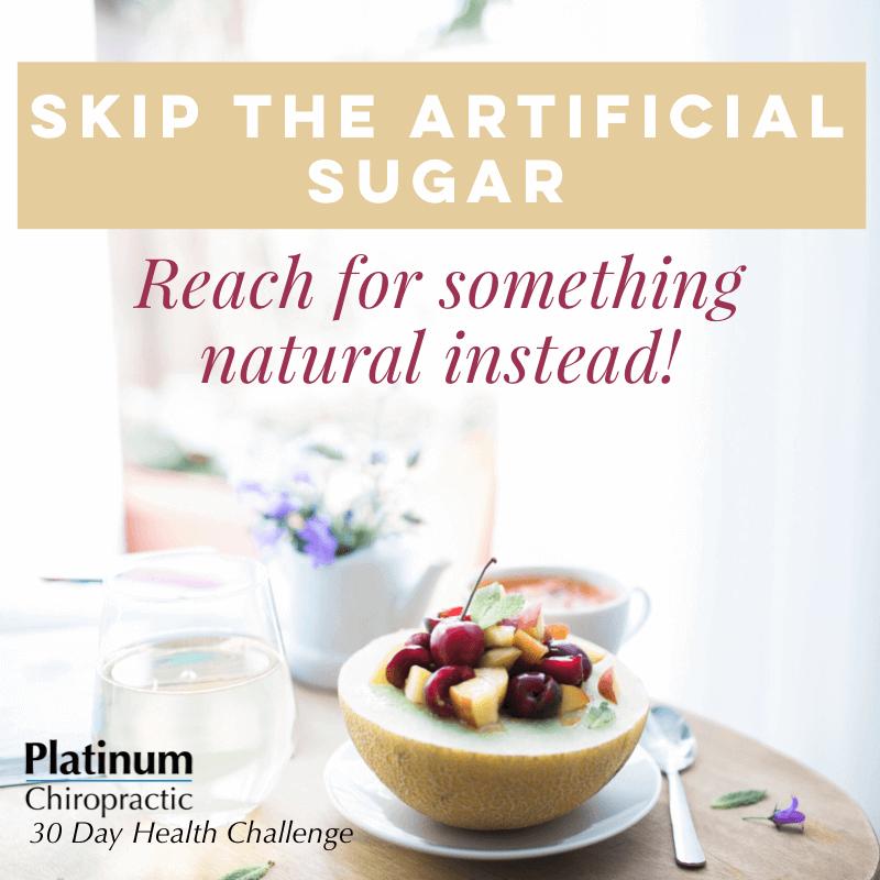 skip the artificial sugar