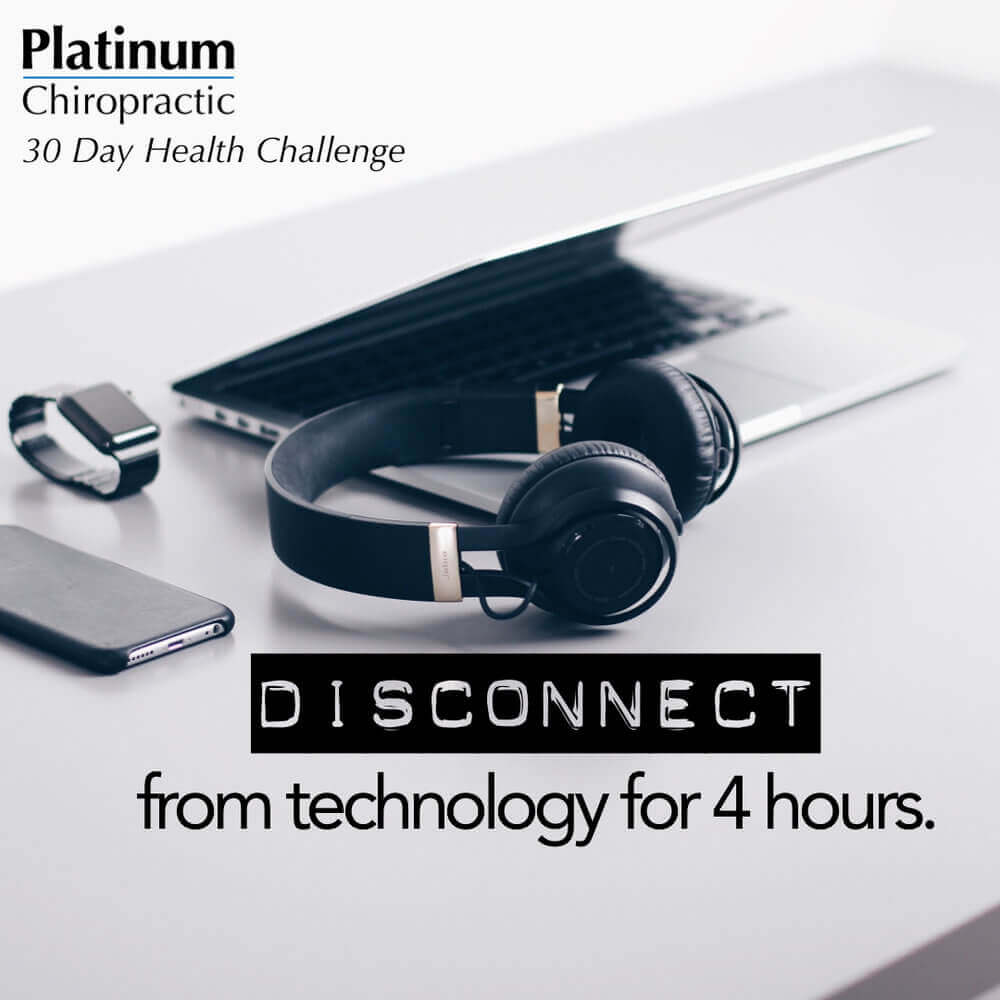 Disconnect from Technology for 4 Hours During the Day Poster