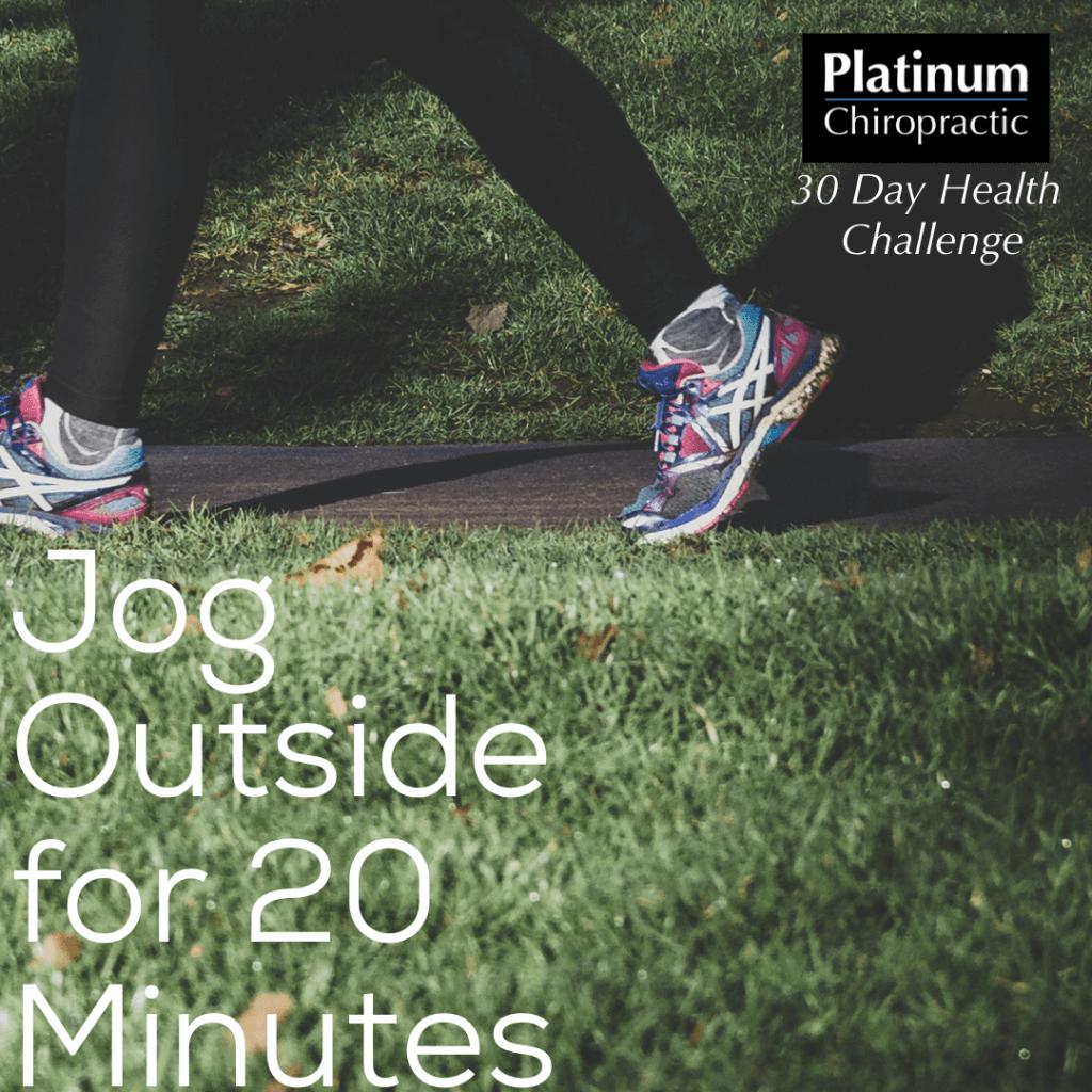 Jog outside for 20 minutest poster