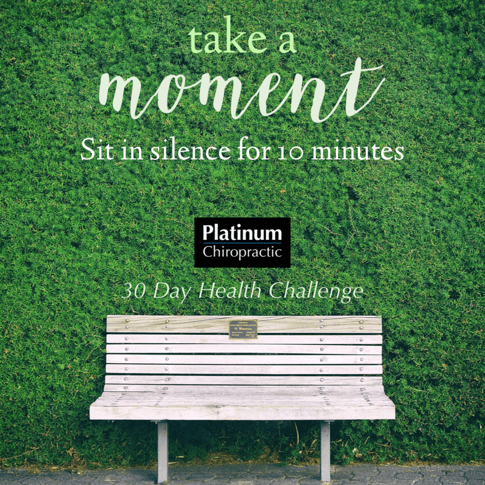 sit in silence for 10 minutes poster
