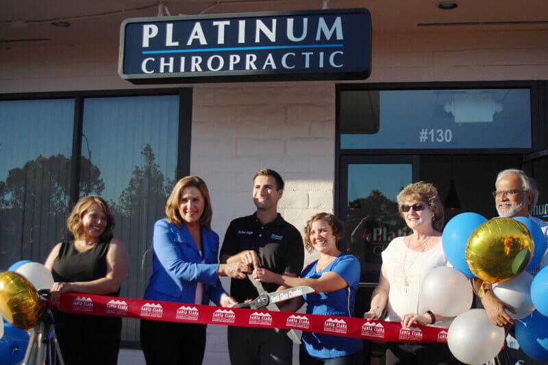 Platinum Chiropractic Grand Opening ribbon cutting