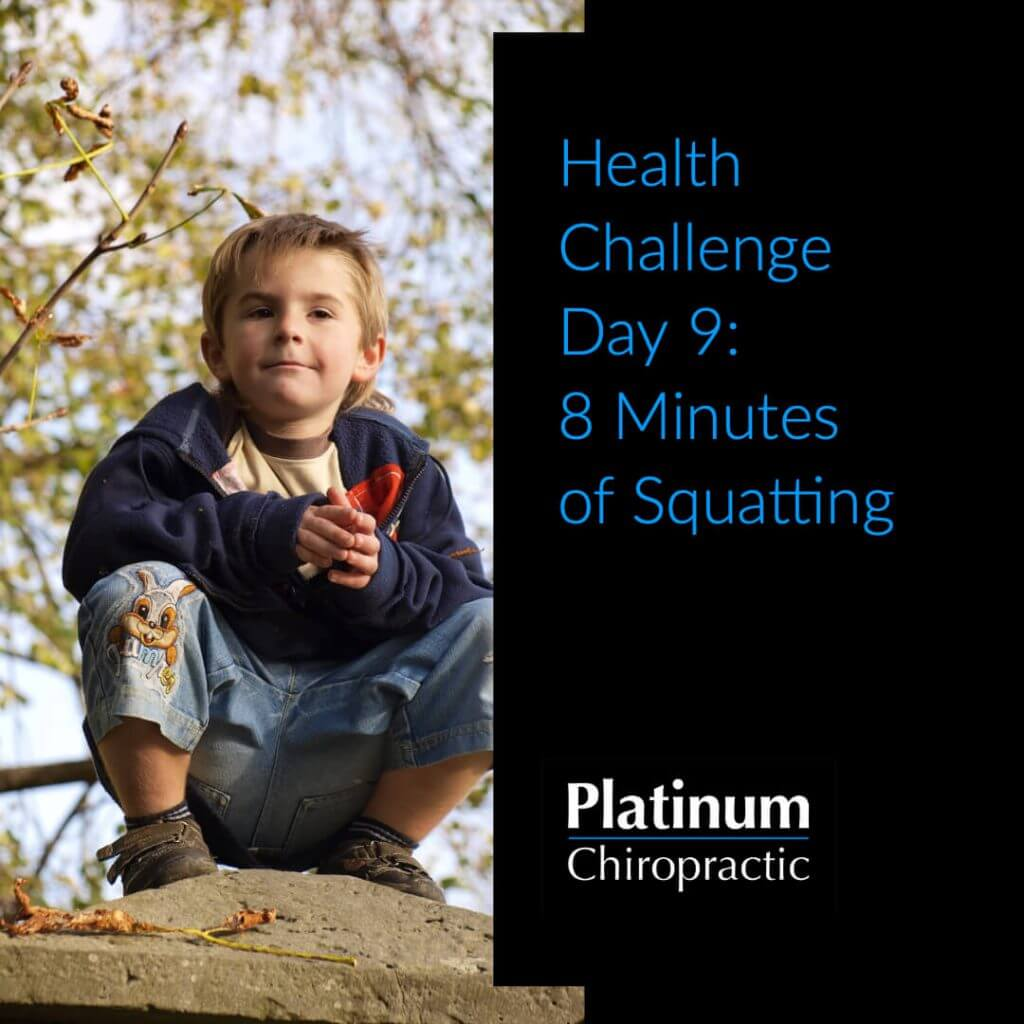 8 min of Squatting challenge poster