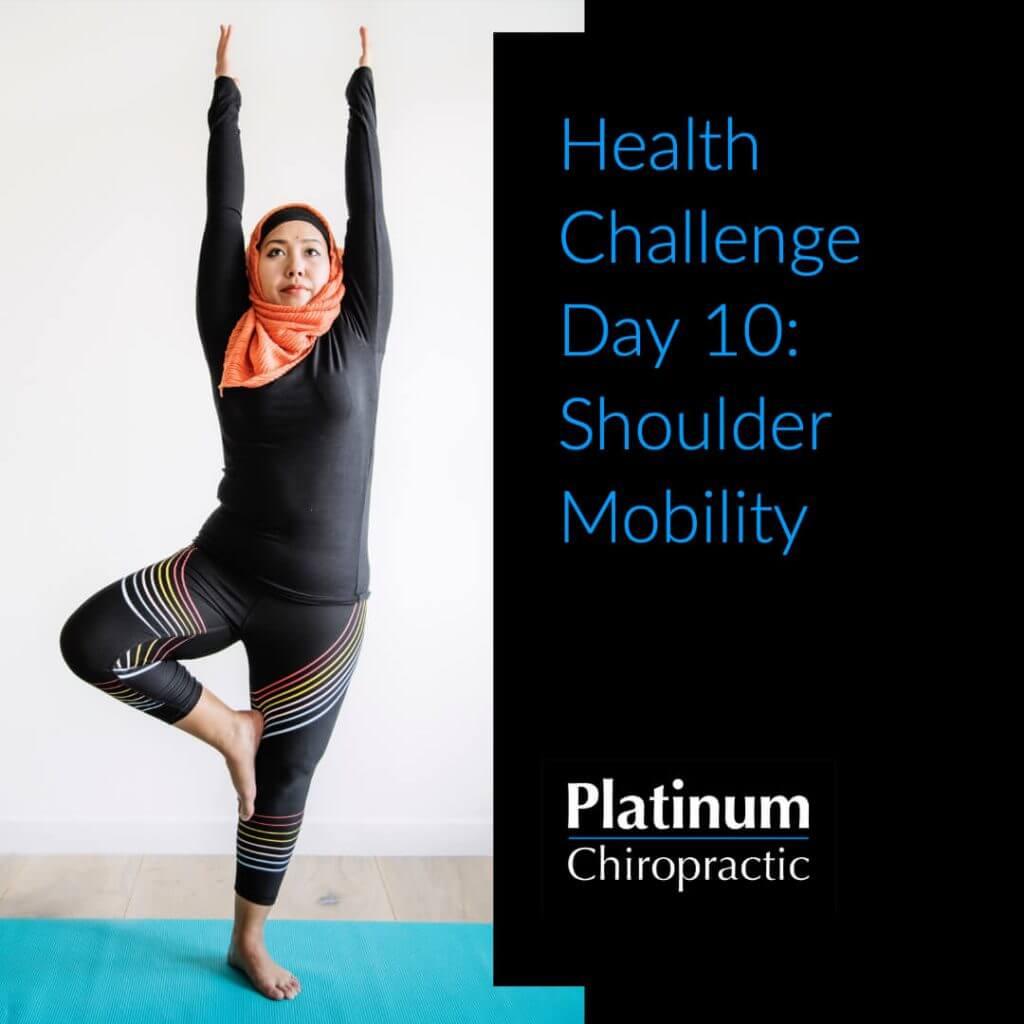 Shoulder Mobility challenge poster