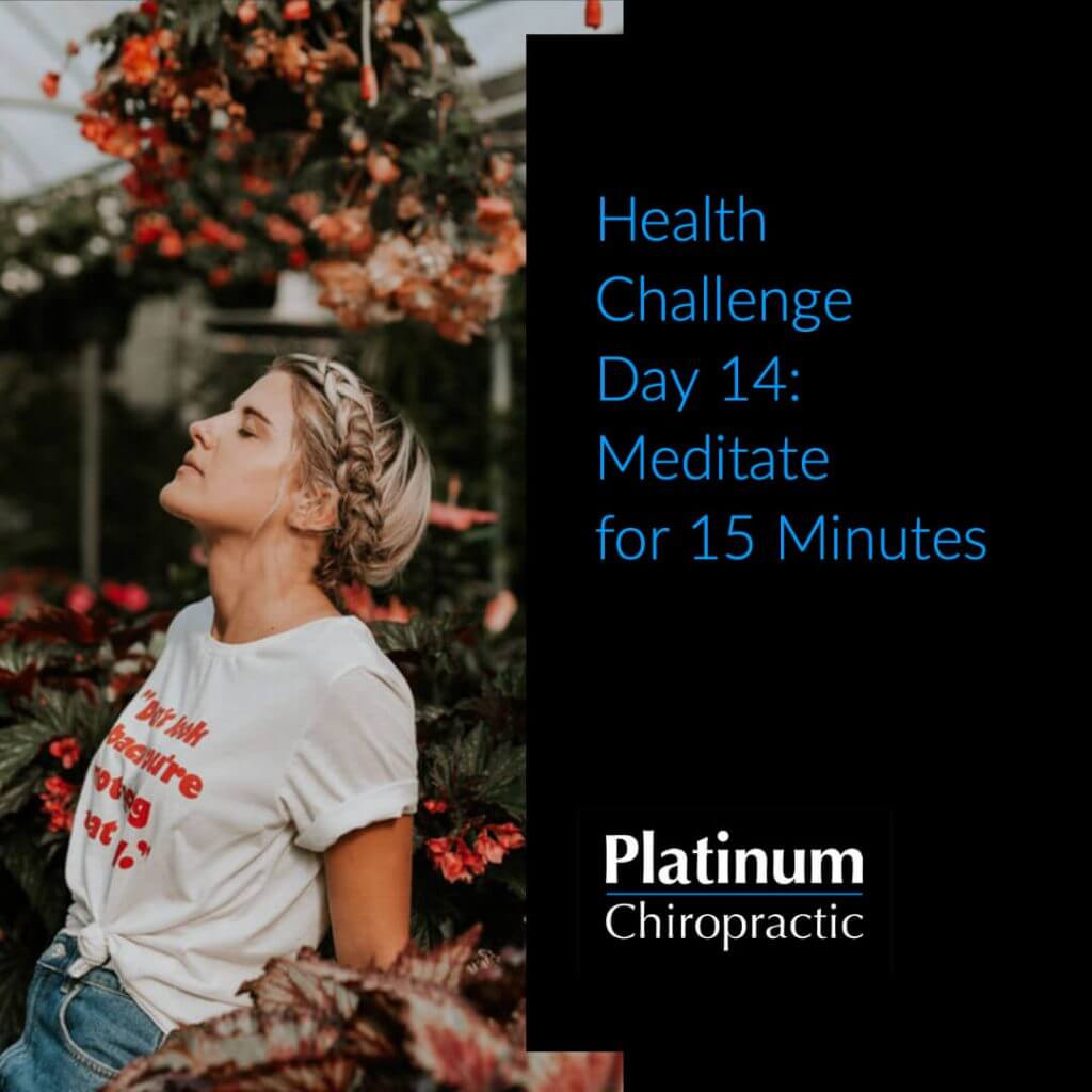 Health Challenge Day 14: Meditate for 15 min Poster