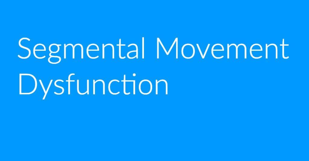 Segmental Movement Dysfunction Poster
